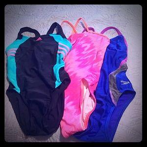 Speedo, Nike & Adidas swim suits sz10/12